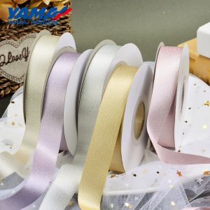 Silver purl satin ribbon