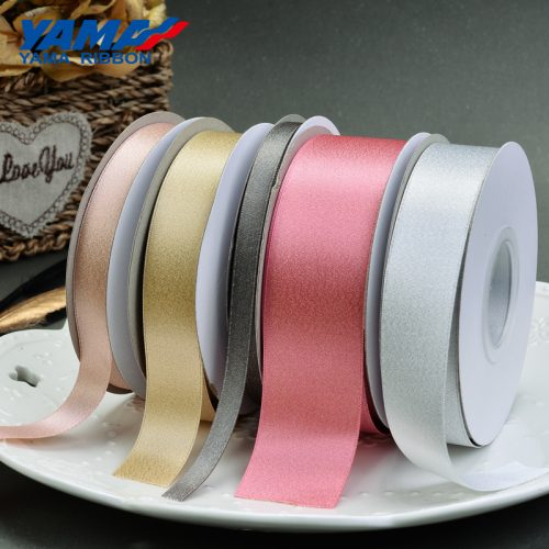 Silver purl satin ribbon