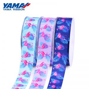 Flamingo Grosgrain Printed Ribbon