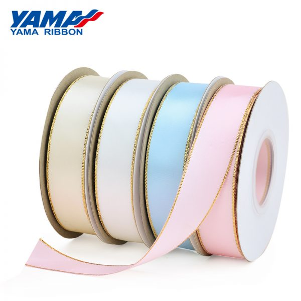 Metallic Edge Satin Ribbon
