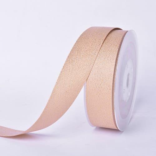 Gold purl Twill ribbon