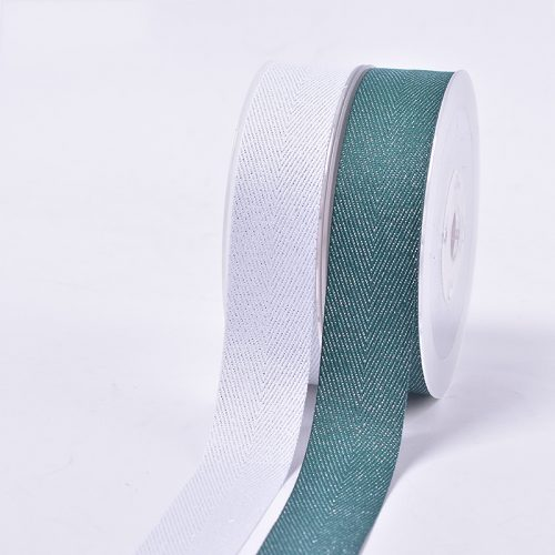 Silver Purl Twill Ribbon