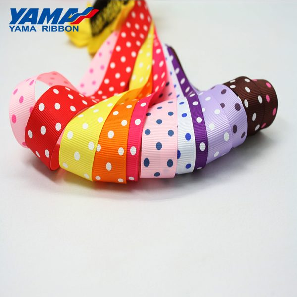 dot ribbon grosgrain