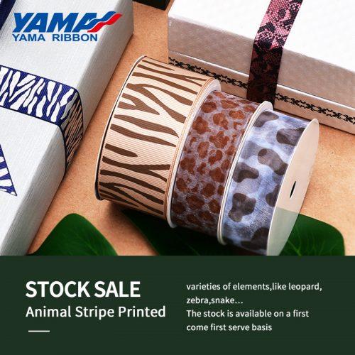 Animal stripe printed ribbon