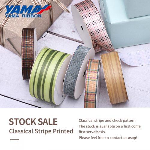 Classical stripe printed ribbon