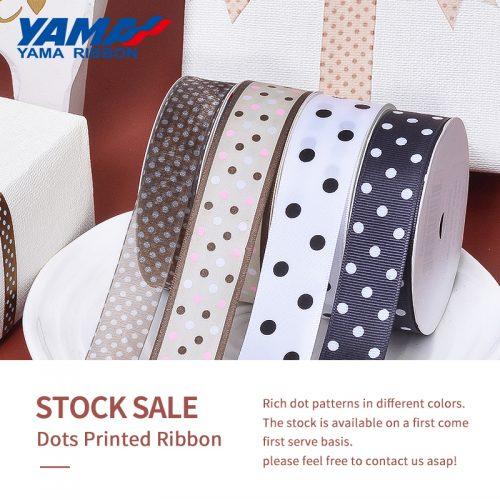 Dots printed ribbon
