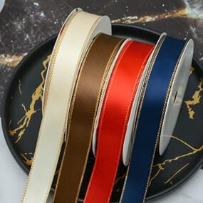 Gold Edge Satin Ribbon