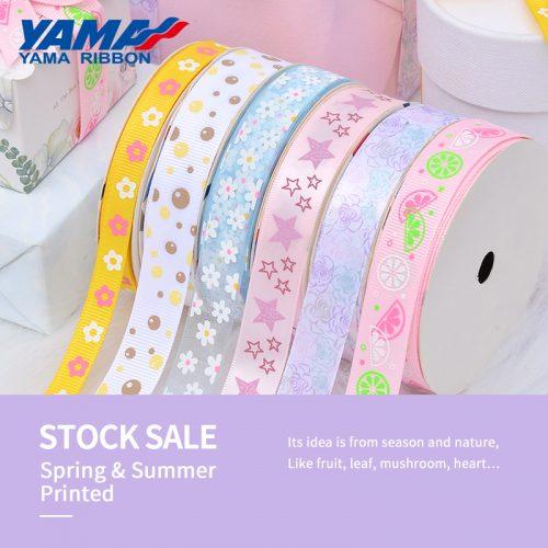 Spring & summer printed ribbon