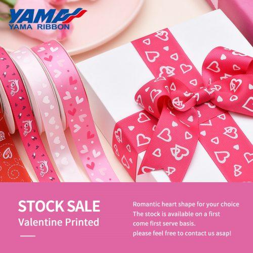 Valentine printed ribbon