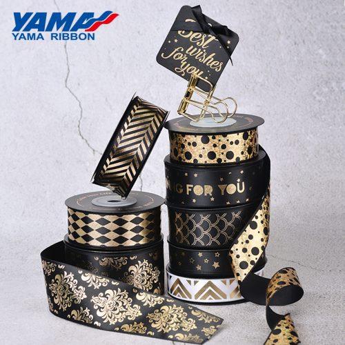 black gold ribbon